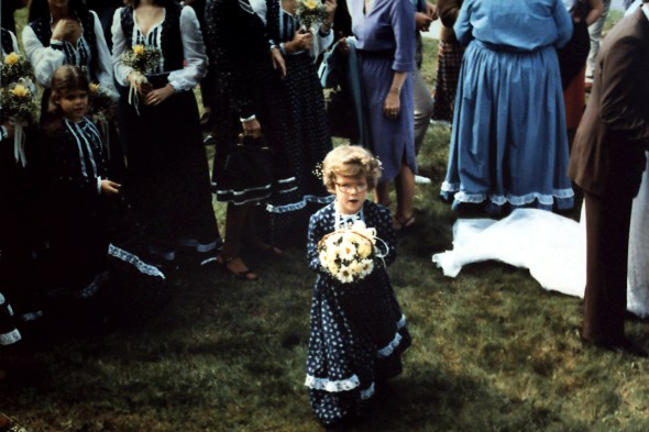 In my aunt's wedding 100 years ago. Or 25...whichever.