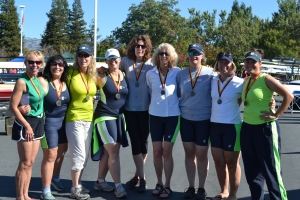 Wine-Country-Rowing-Classic-2014-womens-novice-8-medals